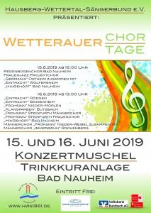 Plakat der Wetterauer Chortage 2019