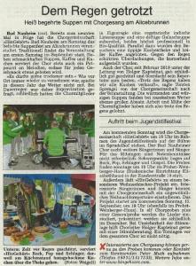 Bericht der Wetterauer Zeitung vom 10.9.2019