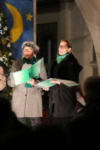 HinGehört Bad Nauheim Christkindlmarkt Bühne Sprudelhof